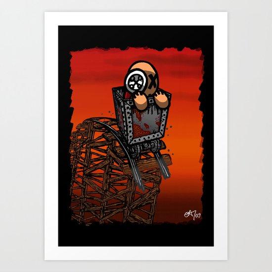 Le parcours de la mine Art Print