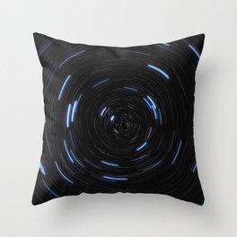 Star Trail Glow Throw Pillow