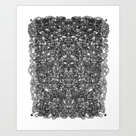 Dual line pattern 03 Art Print