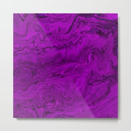 Purple Marble Metal Print