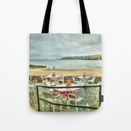Cafe on the Beach Tote Bag