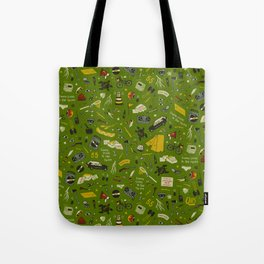 Moonrise Kingdom Plot Pattern Tote Bag