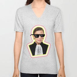 "The Notorious RBG Says ""Deal With It"" Unisex V-Neck"