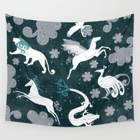 constellation Wall Tapestries featuring  Constellation  by Liluna