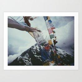 Nepales Mountains Photo Print Art Print