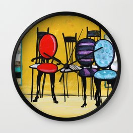 Cafe Chairs Wall Clock