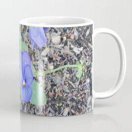 blue Pansy Coffee Mug