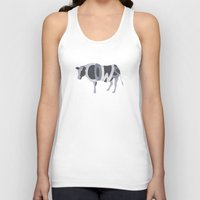 cows Tank Tops featuring Cows Typography by Megan Yiu