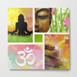 Zen & Spiritual Meditation Collage Metal Print