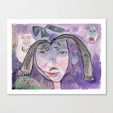 I feel scared Canvas Print