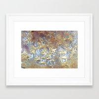 metallic Framed Art Prints featuring METALLIC by Brittany Chase Creations