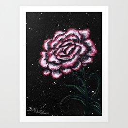 Pink Carnation Painting Art Print
