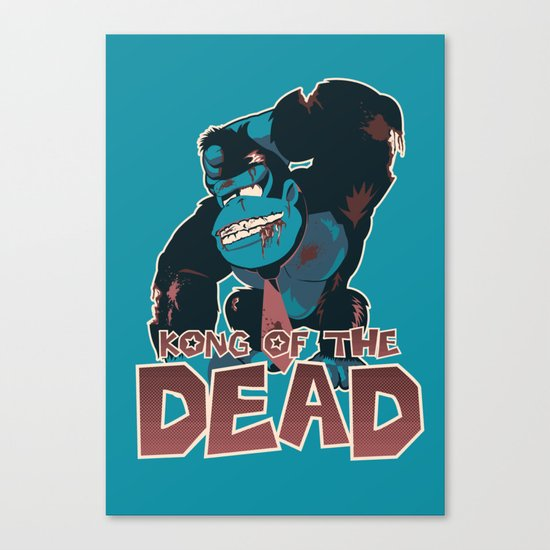 Kong of the Dead Canvas Print