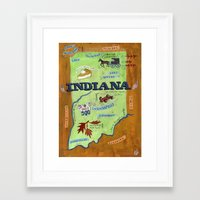 indiana Framed Art Prints featuring INDIANA by Christiane Engel
