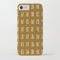 sci fi iPhone & iPod Cases featuring Sci-Fi Glyphs by Lestaret