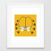 garfield Framed Art Prints featuring Garfield Face by julien tremeau