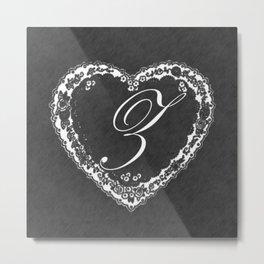 Z Vintage Valentine Chalkboard Metal Print