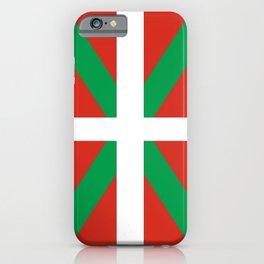 Flag of Euskal Herria-Basque,Pays basque,Vasconia,pais vasco,Bayonne,Dax,Navarre,Bilbao,Pelote,spain iPhone Case