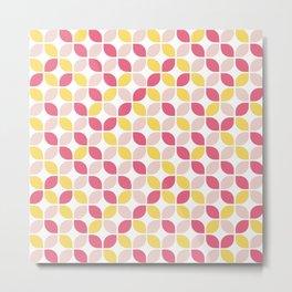 60s Vibe Leaf Pattern Metal Print