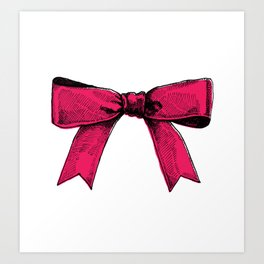 redpink ribbon Art Print