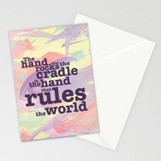 The Hand that Rocks the Cradle... Stationery Cards