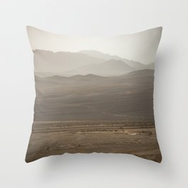Israeli-Egyptian Border Throw Pillow