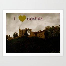 i ❤ castles Art Print