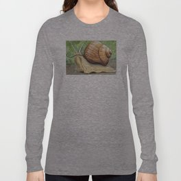 Snail 'Stache Long Sleeve T-shirt