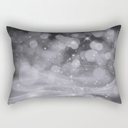 Pantone Lilac Gray Whimsical Glowing Orb Sparkles Rectangular Pillow