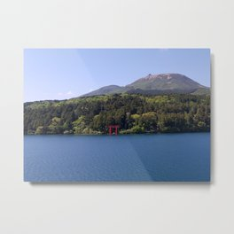 Lake Ashi - view from the water Metal Print