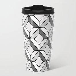 Squares in Gray Travel Mug