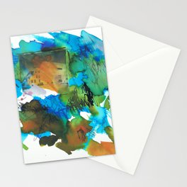 Building in Landscape Stationery Cards