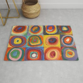 COLOR STUDY, SQUARES WITH CONCENTRIC CIRCLES - WASSILY KANDINSKY Rug