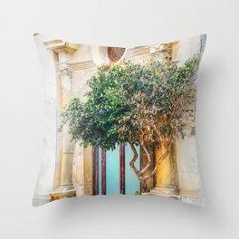 Trapani art 4 Throw Pillow