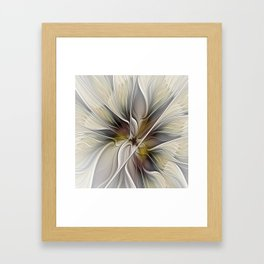 Floral Abstract, Fractal Art Framed Art Print