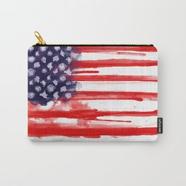 American Spatter Flag Carry-All Pouch