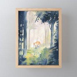 Lone Fox Framed Mini Art Print
