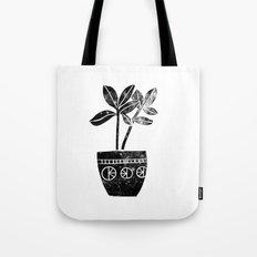 House Plants linocut black and white minimal modern lino print perfect decor piece Tote Bag