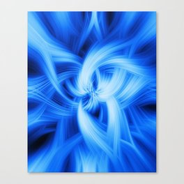 Blue Vortex Canvas Print