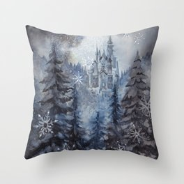 Snow Starlight Throw Pillow