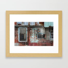 Red & Blue Framed Art Print