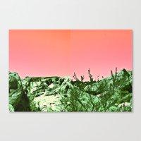ezra koenig Canvas Prints featuring ezra by WILDTROPHYCHILD
