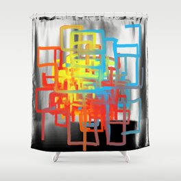 Colorful Tube Maze Shower Curtain