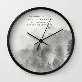 """""""Forest Wilderness"""" Wall Clock"""