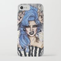 cara delevingne iPhone & iPod Cases featuring Cara Delevingne by vooce & kat