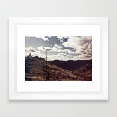 Across Burned Hills Framed Art Print