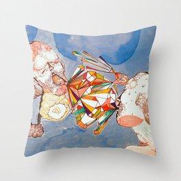 argue argue Throw Pillow
