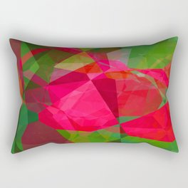 Pink Roses in Anzures 6 Abstract Polygons 2 Rectangular Pillow