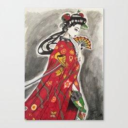 Geisha with A Vendetta Vol. 1 Canvas Print