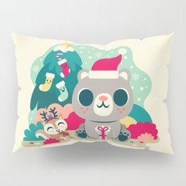 Holiday Woodland Bear / Cute Animal Pillow Sham